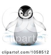 Cute 3d Baby Emperor Penguin
