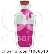 Royalty Free Vector Clip Art Illustration Of A Tall Bottle Of Love Potion by Melisende Vector