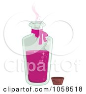Royalty Free Vector Clip Art Illustration Of An Open Tall Bottle Of Love Potion by Melisende Vector