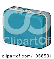 Royalty Free Vector Clip Art Illustration Of A Blue Suitcase by Melisende Vector