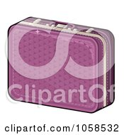 Royalty Free Vector Clip Art Illustration Of A Purple Suitcase by Melisende Vector