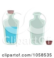Royalty Free Vector Clip Art Illustration Of A Digital Collage Of Water And Empty Bottles