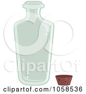 Royalty Free Vector Clip Art Illustration Of A Clear Glass Bottle And Cork