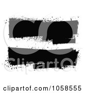 Royalty Free Vector Clip Art Illustration Of A Digital Collage Of Black And White Grunge Banners by michaeltravers