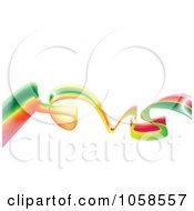 Royalty Free Vector Clip Art Illustration Of A Rasta Wave Over White by michaeltravers