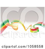 Royalty Free Vector Clip Art Illustration Of A Rastafari Wave Over Gray by michaeltravers