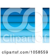 Royalty Free Vector Clip Art Illustration Of A Gradient Blue Plank Background With Vertical Copyspace by michaeltravers