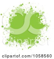 Green Ink Grunge Splat