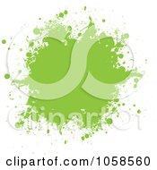 Royalty Free Vector Clip Art Illustration Of A Green Ink Grunge Splat