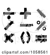 Royalty Free Vector Clip Art Illustration Of A Digital Collage Of Grungy Black Math Symbols