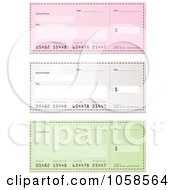 Royalty Free Vector Clip Art Illustration Of A Digital Collage Of Bank Checks 1 by michaeltravers