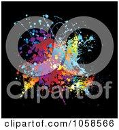Royalty Free Vector Clip Art Illustration Of A Colorful Grunge Splat On Black