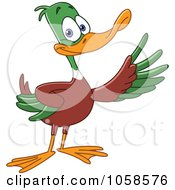 Royalty Free Vector Clip Art Illustration Of A Presenting Mallard Duck