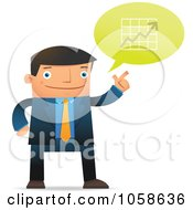 Royalty Free Vector Clip Art Illustration Of A Businessman Discussing Financial Charts
