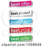 Royalty Free Vector Clip Art Illustration Of A Digital Collage Of Best Seller Price Choice Product And Offer Banners by Andrei Marincas