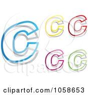 Royalty Free Vector Clip Art Illustration Of A Digital Collage Of Colorful Letter Cs