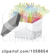 Royalty Free Vector Clip Art Illustration Of A 3d Box With Colorful Optic Fibers by Andrei Marincas