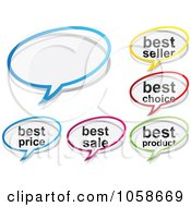 Royalty Free Vector Clip Art Illustration Of A Digital Collage Of Chat Sales Bubbles