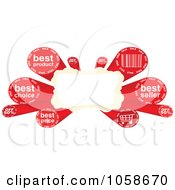 Royalty Free Vector Clip Art Illustration Of A Retail Banner With Red Sales Terms