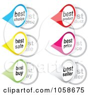 Royalty Free Vector Clip Art Illustration Of A Digital Collage Of Retail Tear Drop Shaped Stickers
