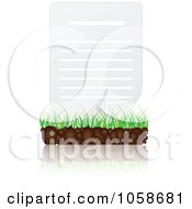 Royalty Free Vector Clip Art Illustration Of A 3d Document Page On Grass by Andrei Marincas