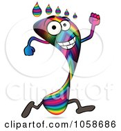 Royalty Free Vector Clip Art Illustration Of A Running Rainbow Footprint