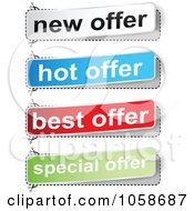 Royalty Free Vector Clip Art Illustration Of A Digital Collage Of Best Offer Banners