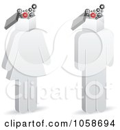 Royalty Free Vector Clip Art Illustration Of A Digital Collage Of 3d People With Gear Box Heads by Andrei Marincas