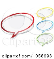 Royalty Free Vector Clip Art Illustration Of A Digital Collage Of Chat Bubble Icons