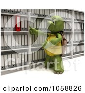 Royalty Free CGI Clip Art Illustration Of A 3d Tortoise Filing Archives
