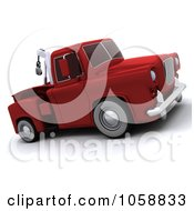 Royalty Free CGI Clip Art Illustration Of A 3d Retro Red Tow Truck by KJ Pargeter