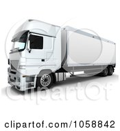 Royalty Free CGI Clip Art Illustration Of A 3d Euro Truck