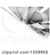 Royalty Free CGI Clip Art Illustration Of A 3d Abstract Modern Background Of Gray Architectural Boards