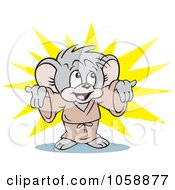 Royalty Free Clip Art Illustration Of A Micah Mouse Presenting