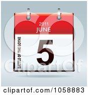 Royalty Free Vector Clip Art Illustration Of A 3d Battle Of The Boyne June 5 2011 Flip Desk Calendar