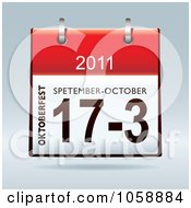 Royalty Free Vector Clip Art Illustration Of A 3d Oktoberfest 2011 Flip Desk Calendar