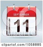 Royalty Free Vector Clip Art Illustration Of A 3d Grandparents Day September 11 2011 Flip Desk Calendar