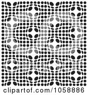 Royalty Free Vector Clip Art Illustration Of A Seamless Black And White Spot Bulge Patterned Background