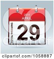 Royalty Free Vector Clip Art Illustration Of A 3d Royal Wedding For William And Kate April 9 2011 Flip Desk Calendar