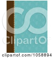 Royalty Free Vector Clip Art Illustration Of A Blue Patterned Background With A Brown Left Edge