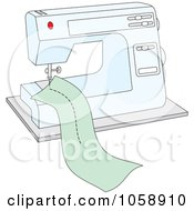 Royalty Free Vector Clip Art Illustration Of A Sewing Machine