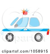 Royalty Free Vector Clip Art Illustration Of A Profiled View Of A Police Car by Alex Bannykh