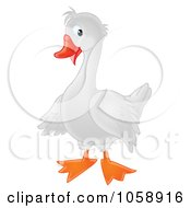 Royalty Free Clip Art Illustration Of A White Goose by Alex Bannykh