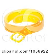 Royalty Free Clip Art Illustration Of A Leather Belt