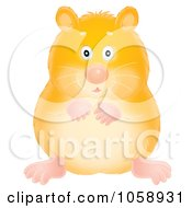 Royalty Free Clip Art Illustration Of A Chubby Hamster by Alex Bannykh