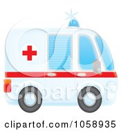 Royalty Free Clip Art Illustration Of An Airbrushed Profiled Ambulance by Alex Bannykh