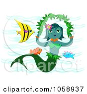 Mermaid With Fish And Sea Weed