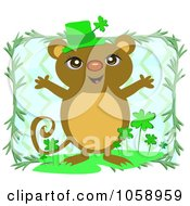 Royalty Free Vector Clip Art Illustration Of A St Patricks Day Mouse by bpearth