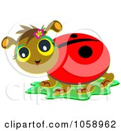 Royalty Free Vector Clip Art Illustration Of A Happy Ladybug
