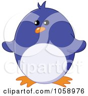 Royalty Free Vector Clip Art Illustration Of A Chubby Happy Penguin by yayayoyo